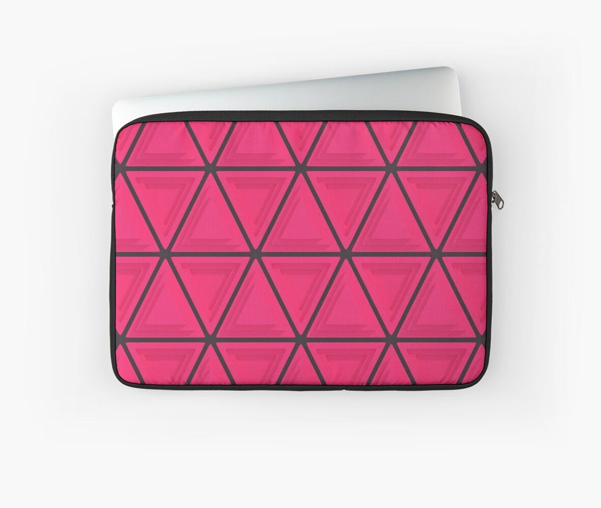 Triangular Pattern 1, Pink & Black by SummerAndSun