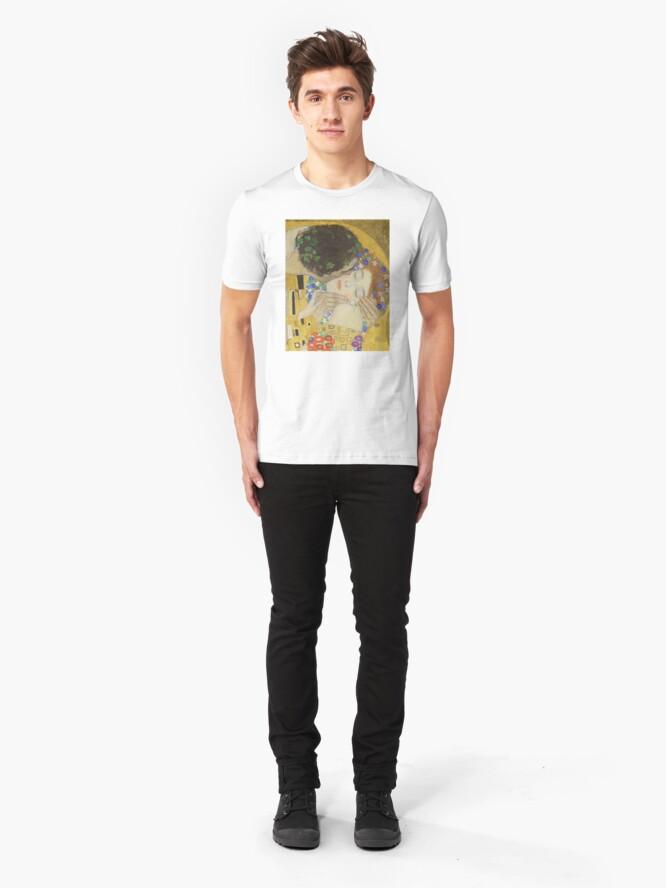 Alternate view of The Kiss - Gustav Klimt Slim Fit T-Shirt