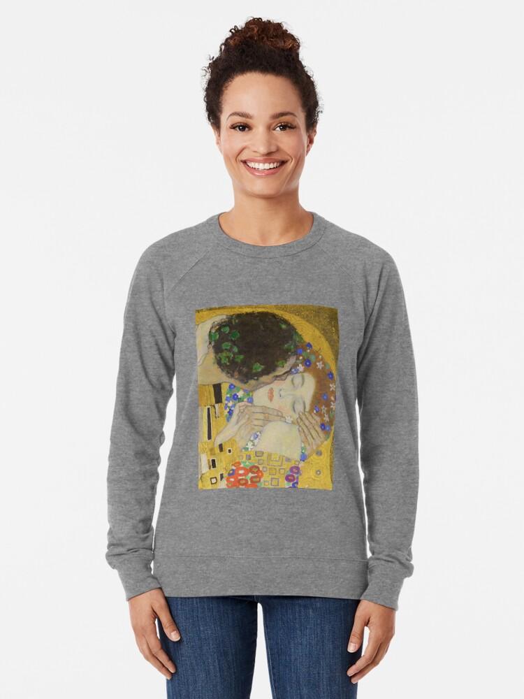 Alternate view of The Kiss - Gustav Klimt Lightweight Sweatshirt