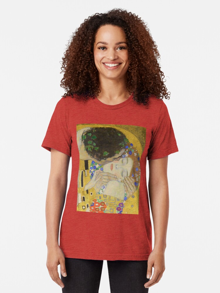 Alternate view of The Kiss - Gustav Klimt Tri-blend T-Shirt