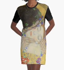 The Kiss - Gustav Klimt Graphic T-Shirt Dress