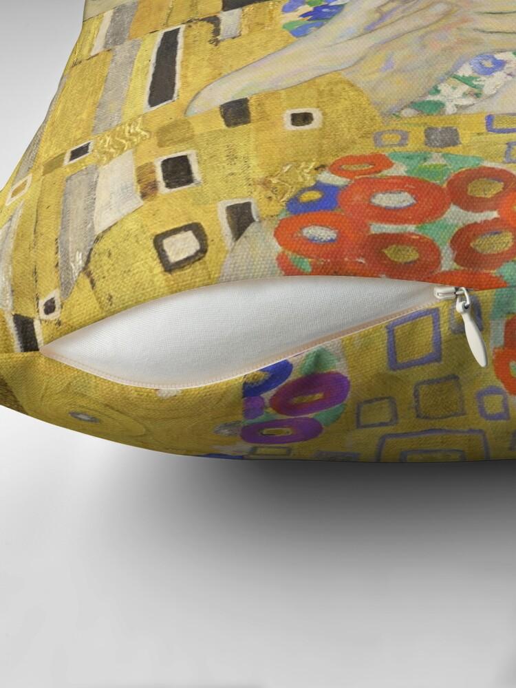 Alternate view of The Kiss - Gustav Klimt Floor Pillow