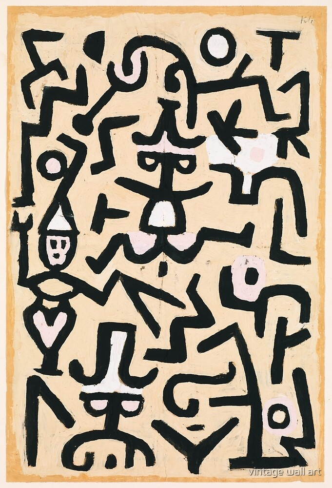 Paul Klee, The Comedians' Handbill, 1938 by fineearth