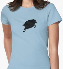 Angry Animals: Sheep Fitted T-Shirt