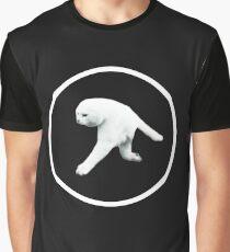 Aphex Twin - Two legged cat (white logo) Graphic T-Shirt