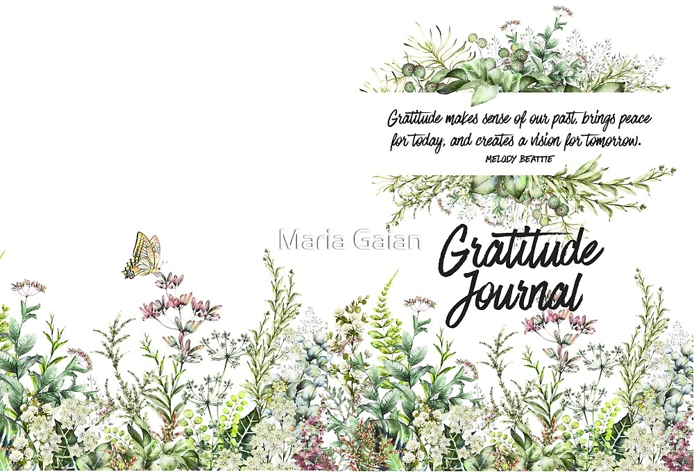 Gratitude Journal for Nature Lovers by Maria Gaian