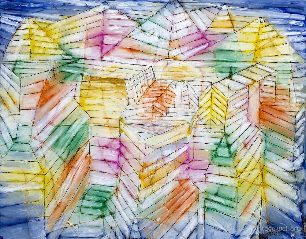 Theater-Mountain-Construction by Paul Klee, 1920 by fineearth