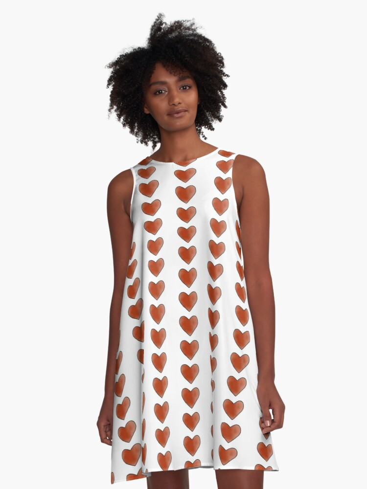 Red Heart  A-Line Dress Front