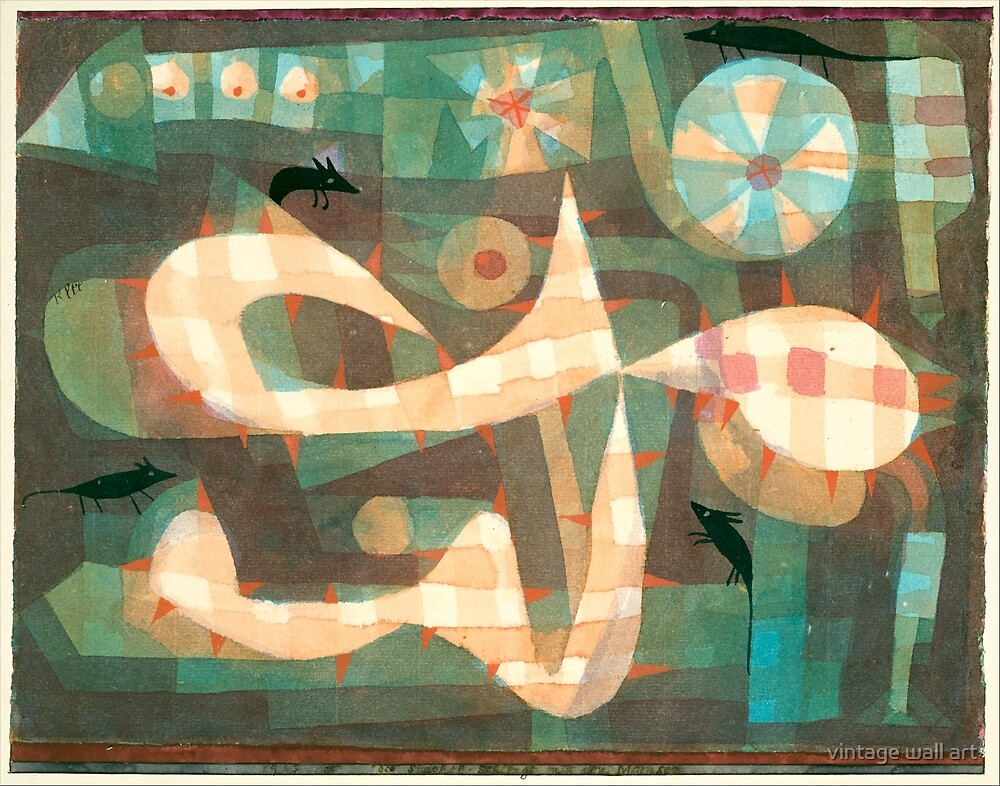 The Barbed Noose with the Mice by Paul Klee, 1923 by fineearth