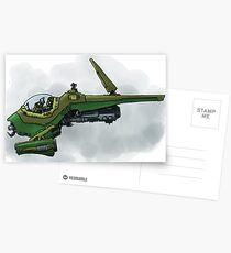 Singleship in atmosphere Postcards