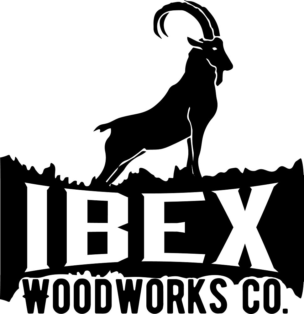 Ibex Woodworks Co - Large Black Logo  by Ibex Woodworks Co