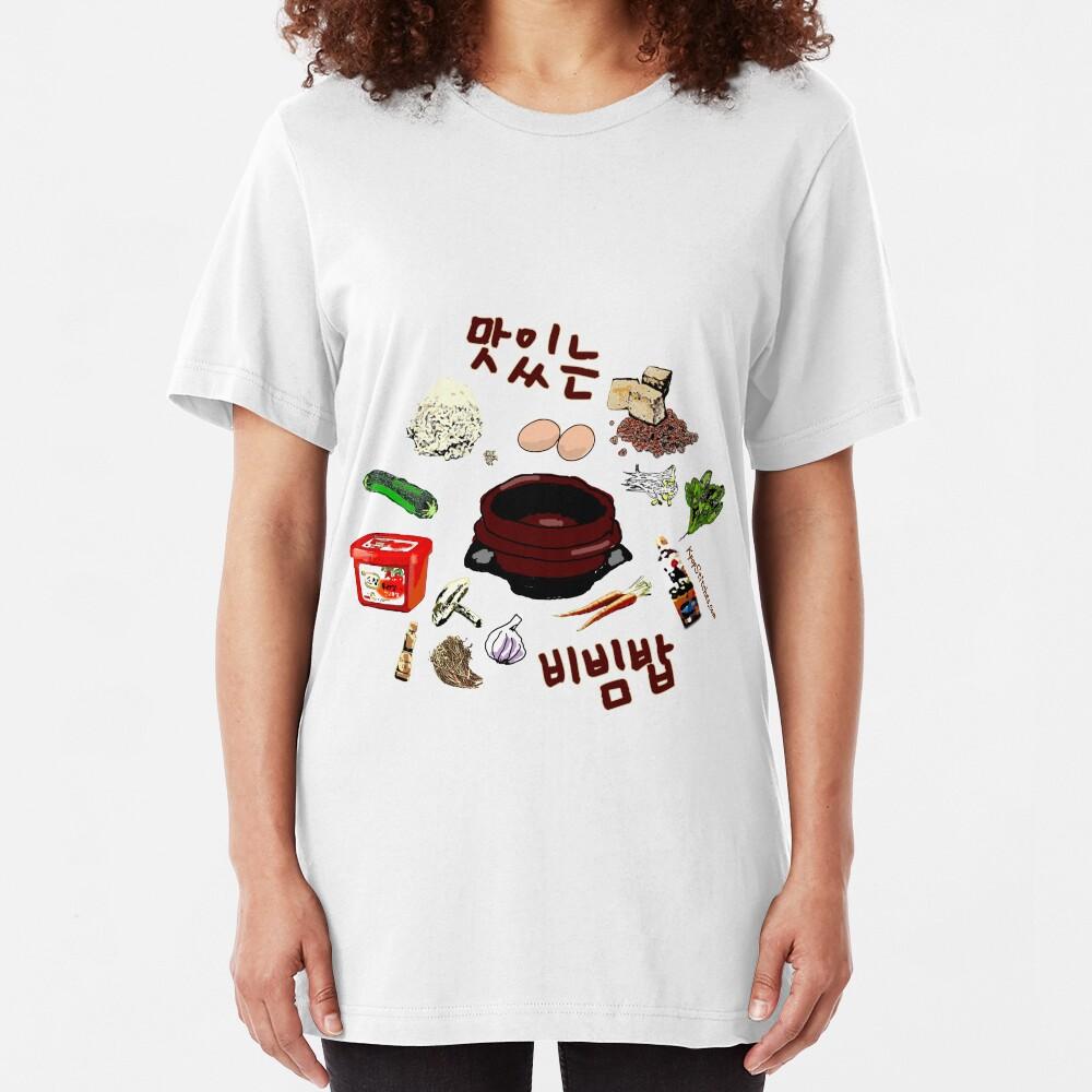 Delicious Bibimbap!! 맛있는 비빔밥!! Korean Food Slim Fit T-Shirt