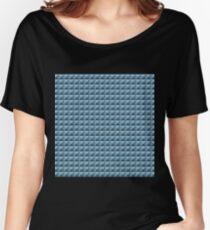 3D Pyramids grey-blue Women's Relaxed Fit T-Shirt