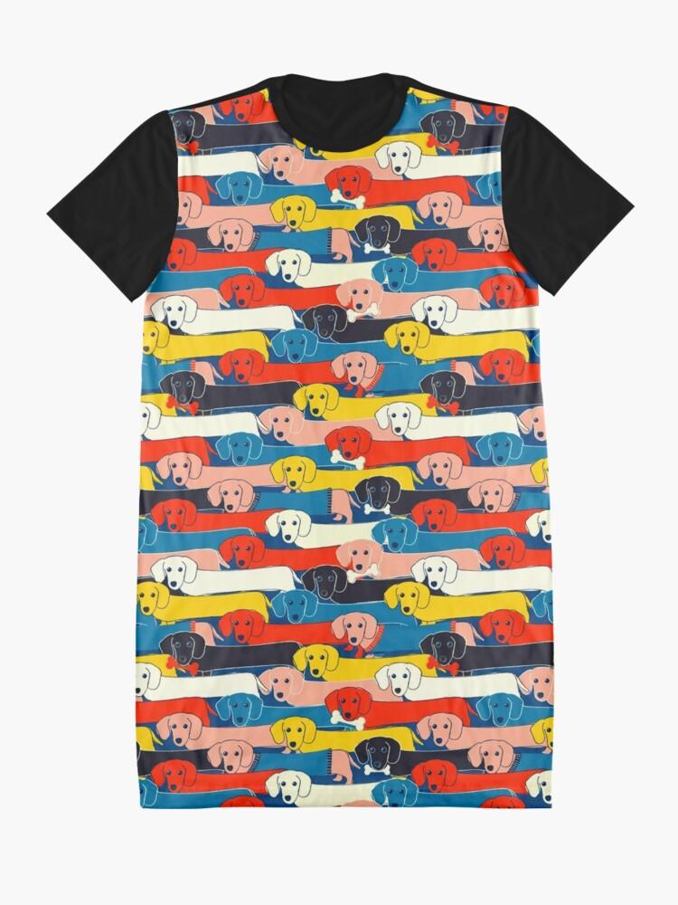 Alternative Ansicht von FARBIGES NETTES HUNDE-MUSTER 2 T-Shirt Kleid