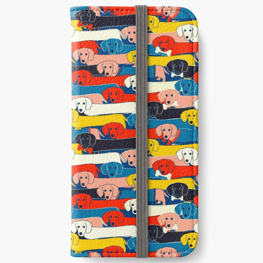 COLORED CUTE DOGS PATTERN 2 iPhone Wallet