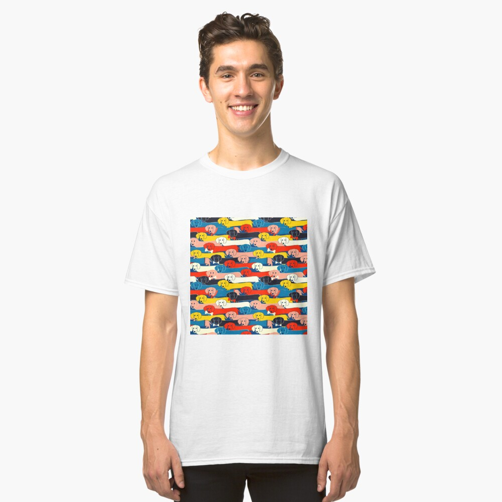 COLORED CUTE DOGS PATTERN 2 Classic T-Shirt