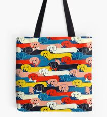 COLORED CUTE DOGS PATTERN 2 Tote Bag