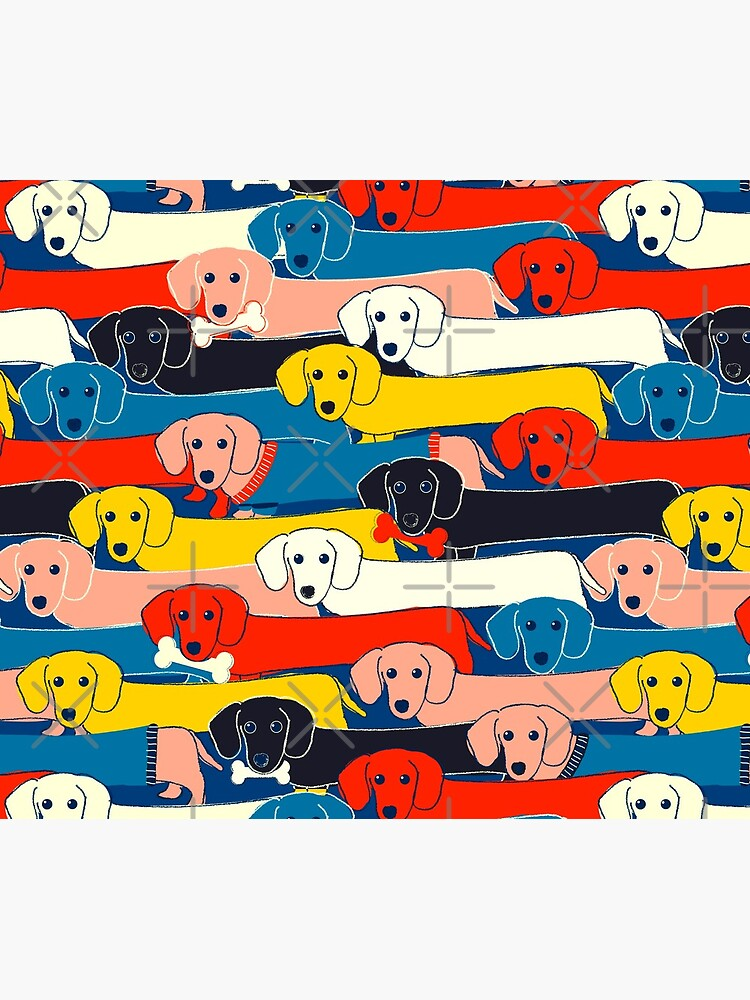 COLORED CUTE DOGS PATTERN 2 by ShowMeMars