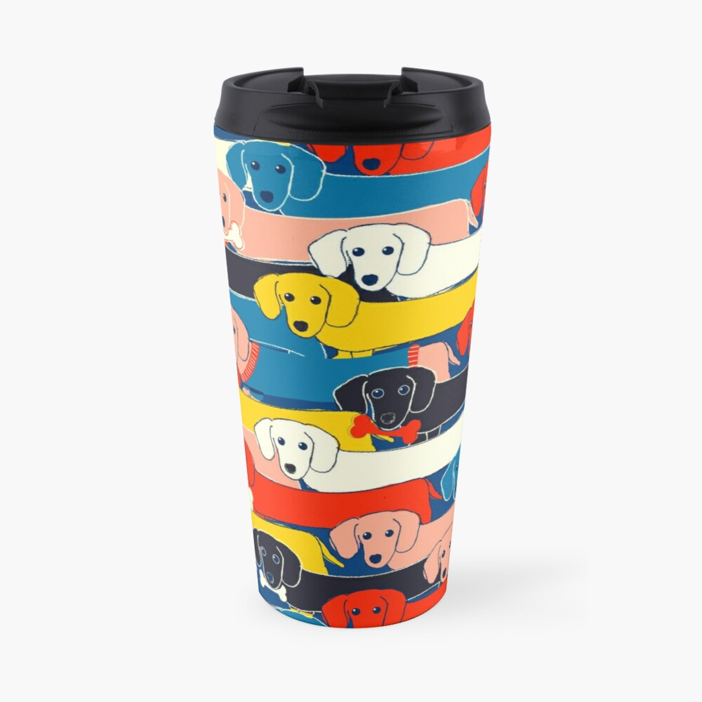 COLORED CUTE DOGS PATTERN 2 Travel Mug