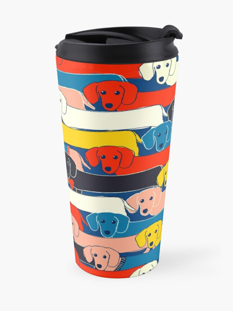 Alternate view of COLORED CUTE DOGS PATTERN 2 Travel Mug