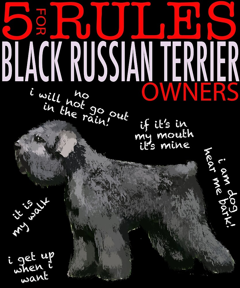 5 Rules for Black Russian Terrier Owners by MichaelRellov