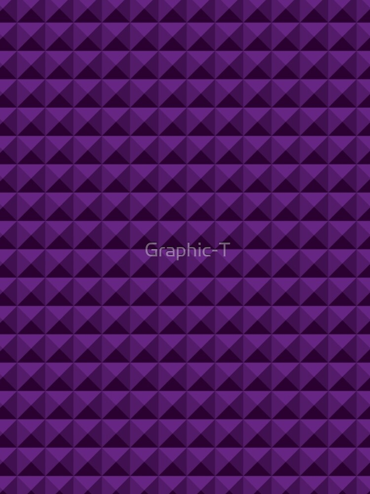 3D Pyramids purple by Graphic-T
