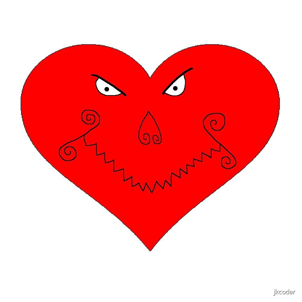 Evil Heart Face by jkcoder