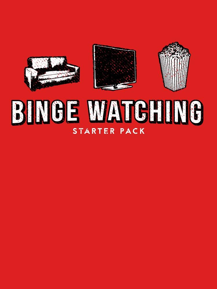 Binge watching starter pack Netflix Parody by udesignstudio