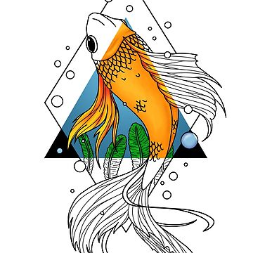 Art nouveau: Goldfish by Angrahius