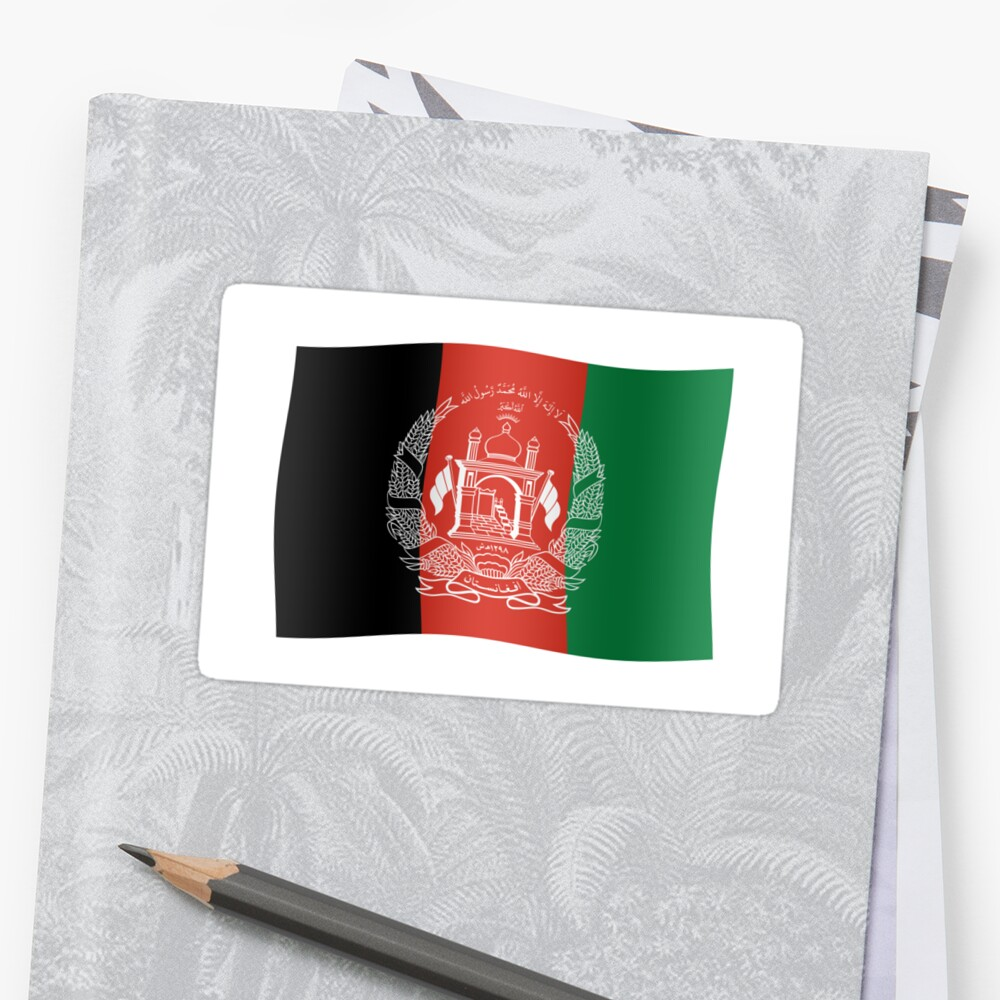 Afghani flag by stuwdamdorp