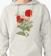 A country garden flower bouquet -poppies and daisies Pullover Hoodie