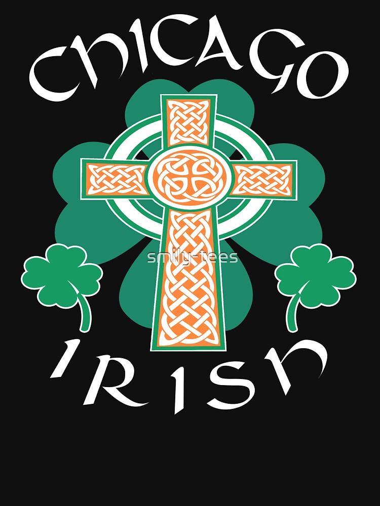 Chicago American Irish Pride Celtic Cross Saint Patrick by smily-tees