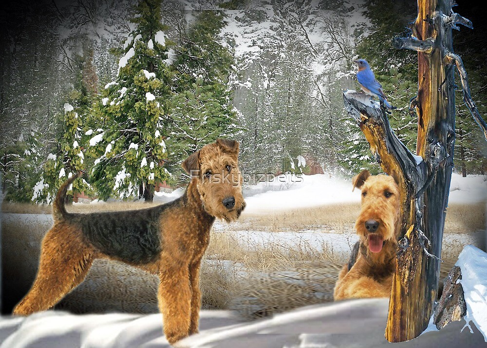 Airedale Terrier Paw Print Apparel And Gift Ideas by Friskybizpets