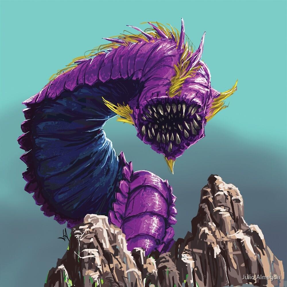 Purple Worm by Julio Almeyda
