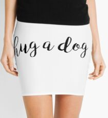 hug a dog Mini Skirt