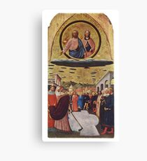 UFOs, in Ancient Art, The Miracle of the Snow, by Masolino da Panicale. Canvas Print