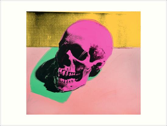 Andy Warhol Skull Print pop art by jasmineGold