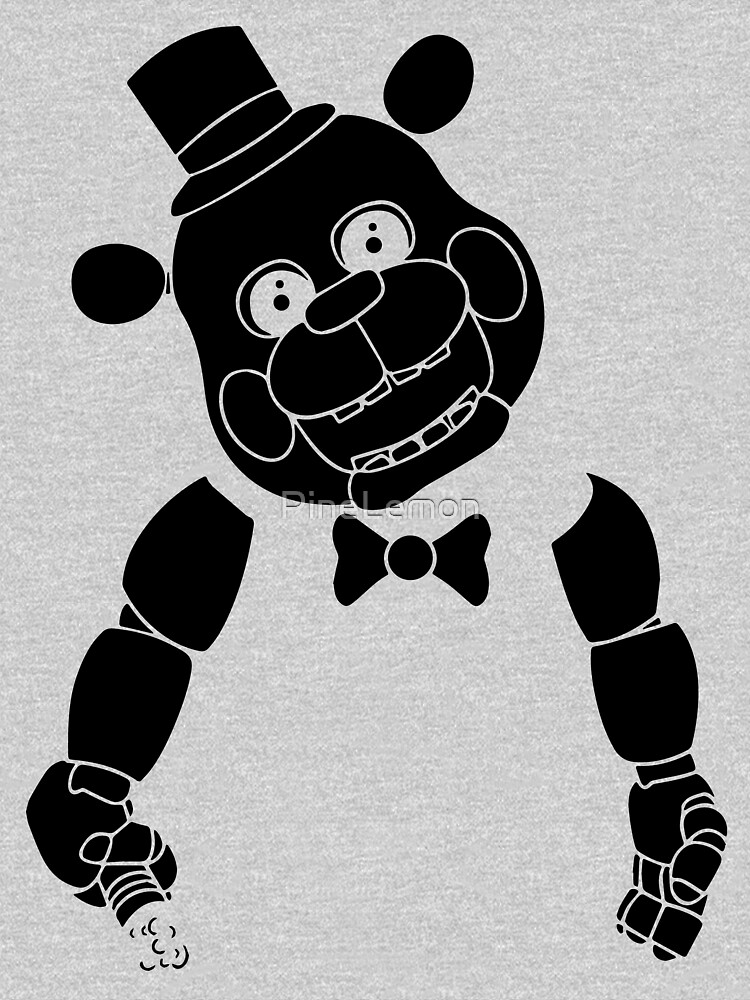 fnaf sticker black silhouette, five nights at freddys by PineLemon