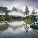 Rainy Morning on the Hintersee (Bavaria) by Dirk Wiemer
