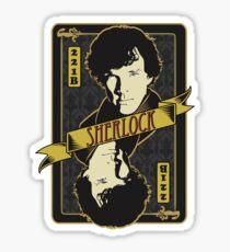 221B Playing Card Sticker