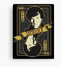 221B Playing Card Canvas Print