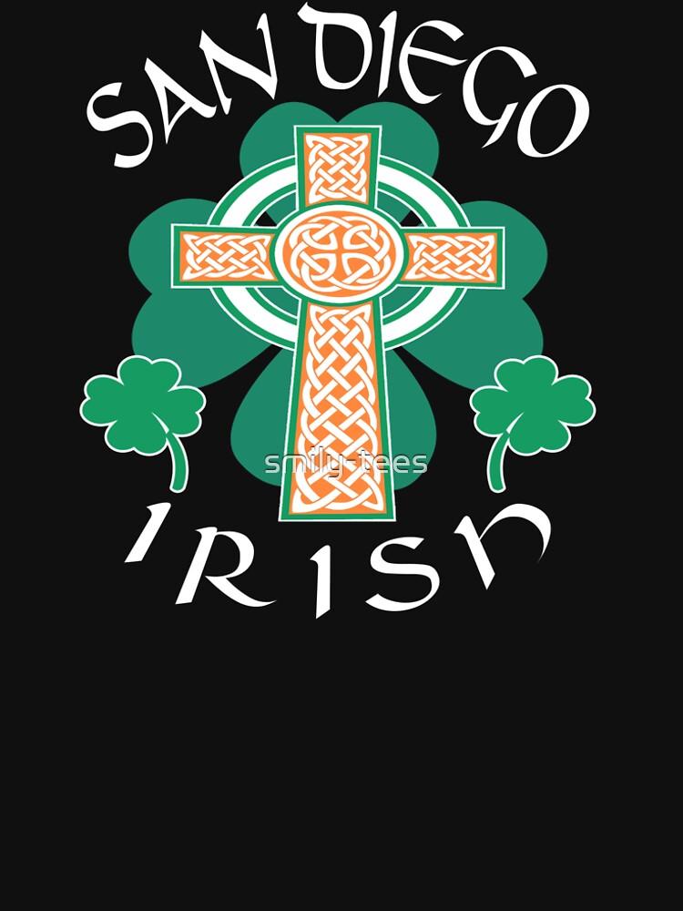 San Diego American Irish Celtic Cross Saint Patrick by smily-tees