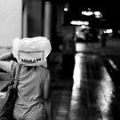 Umbrella in Mono by Andrew Pollard