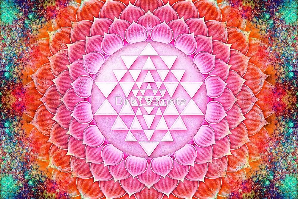 Sri Yantra lotus I by Dirk Czarnota
