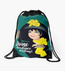Divine decadence darling Drawstring Bag