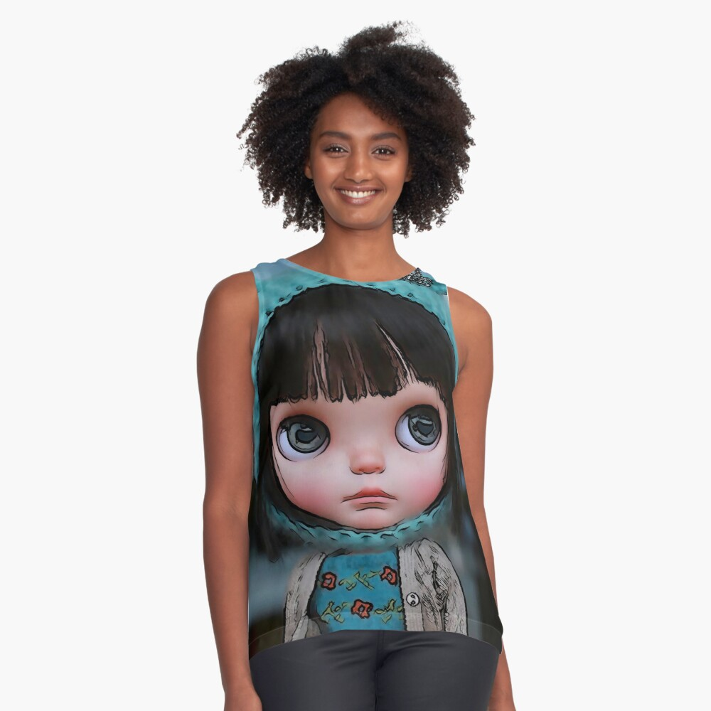 Lily doll - doll, manga, comic Contrast Tank Front