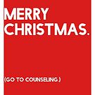 Merry Christmas (GTC) Greeting Card - Red by Robert Vore