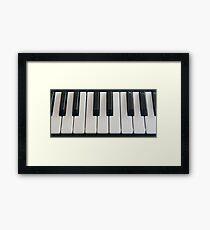 Keyboard abstract Framed Print