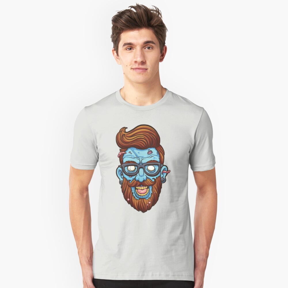 Hipster zombie Unisex T-Shirt Front