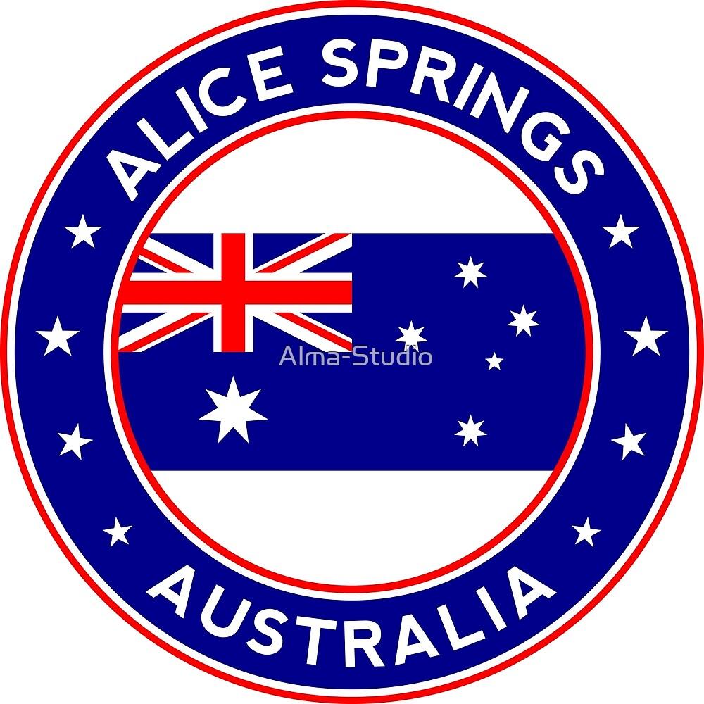Australia circle, Alice Springs City by Alma-Studio